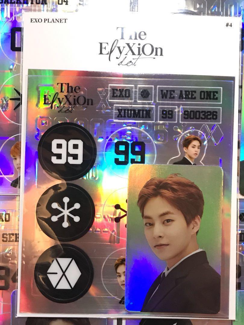 Exo Xiumin Elyxion Dot Deco Sticker Hologram Photocard