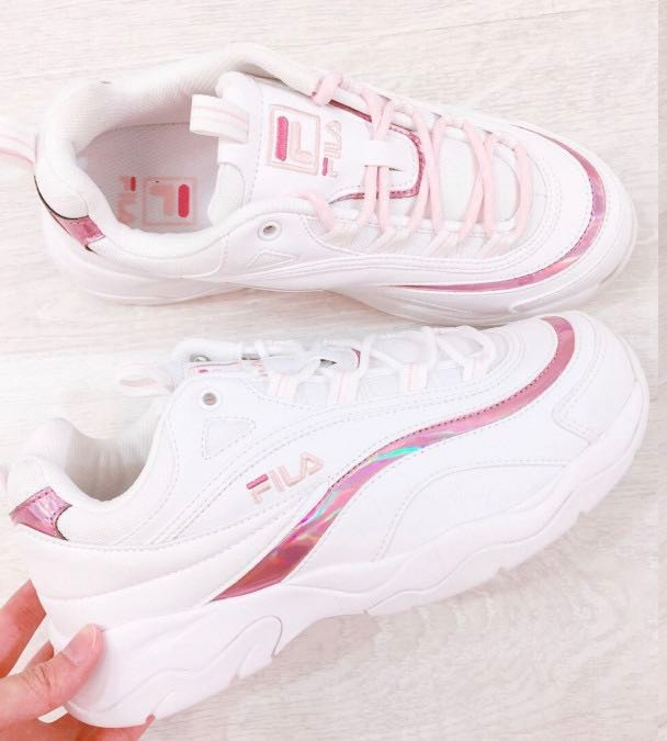 FILA's Chunky Ray Holographic Pink