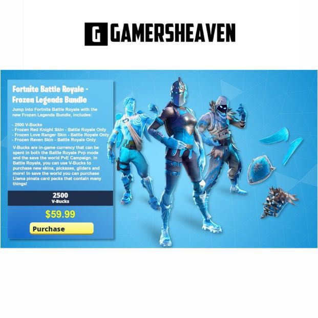 Fortnite Frozen Legends Pack Toys Games Video Gaming Video