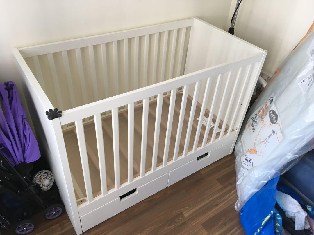 Genuine Ikea Sundvik Crib Cot Comes With Or Without Mattress Covers And Waterproof Sheet Babies Kids Cots Cribs On Carousell