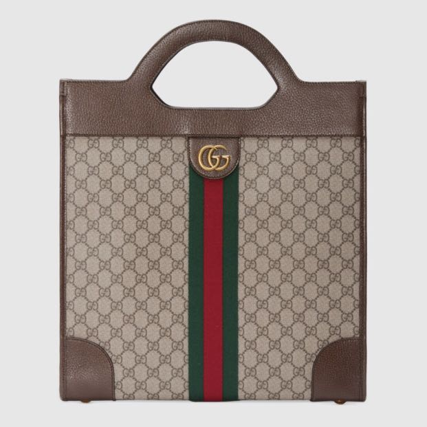 a1a12d022943fb Gucci Ophidia GG medium top handle tote, Luxury, Bags & Wallets ...