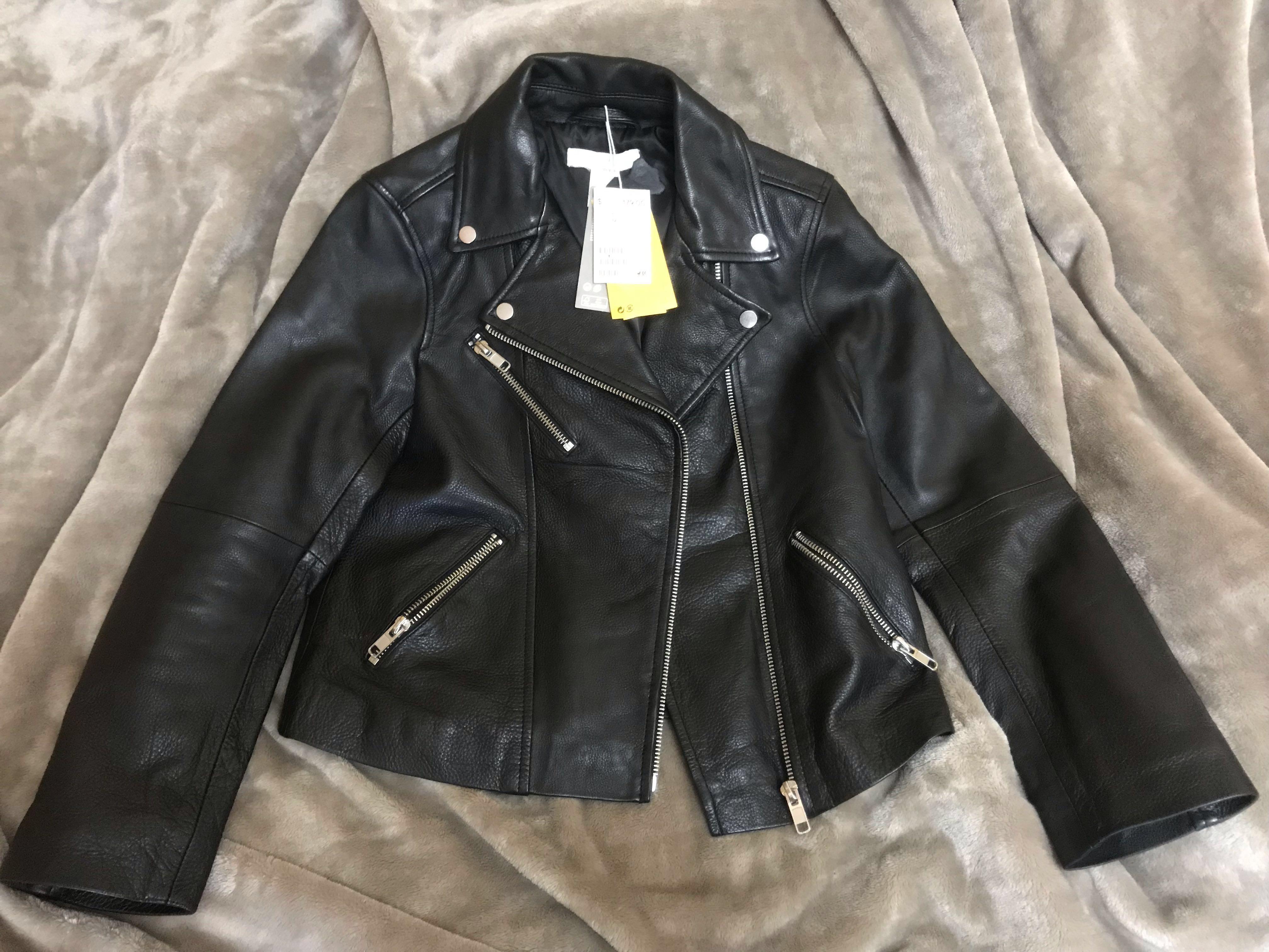H&M premium leather jacket