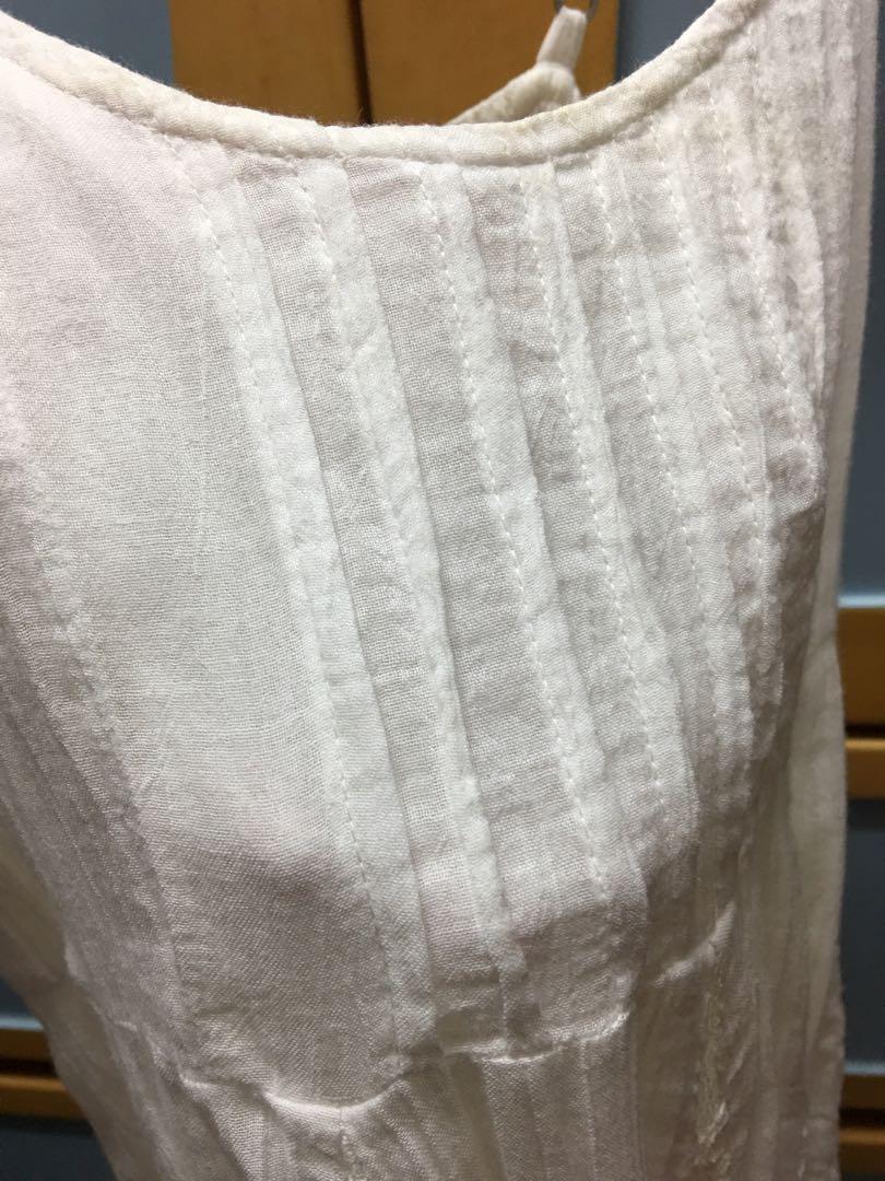 Hollister One piece white dress