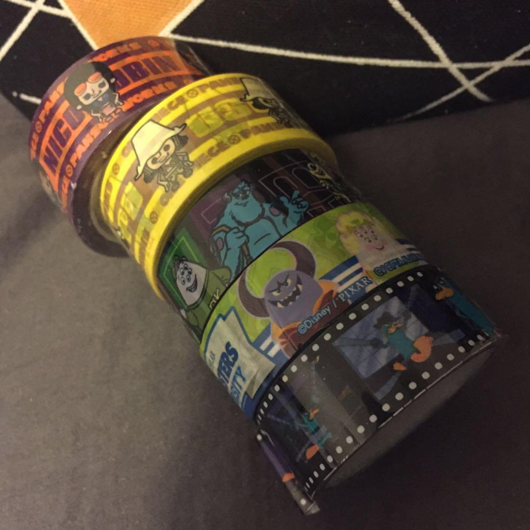 💖Japan Decorative Tapes (OnePiece, Monster University etc.)⚡️