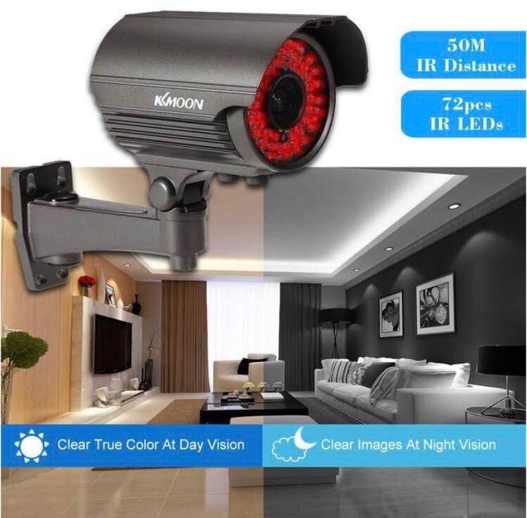 KKmoon 1080P CCTV AHD Camera 2 8~12mm Manual Zoom Lens Outdoor Waterproof  Metal 72 IR LED Night Vision 2MP Security Camera