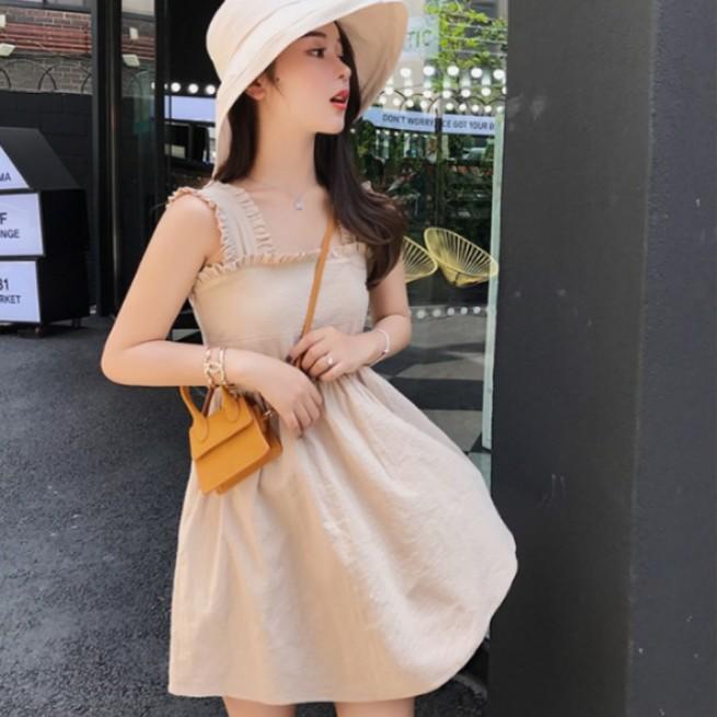 Korean Ribbed Strap Dress Korea Style Brand New Fashion Ulzzang