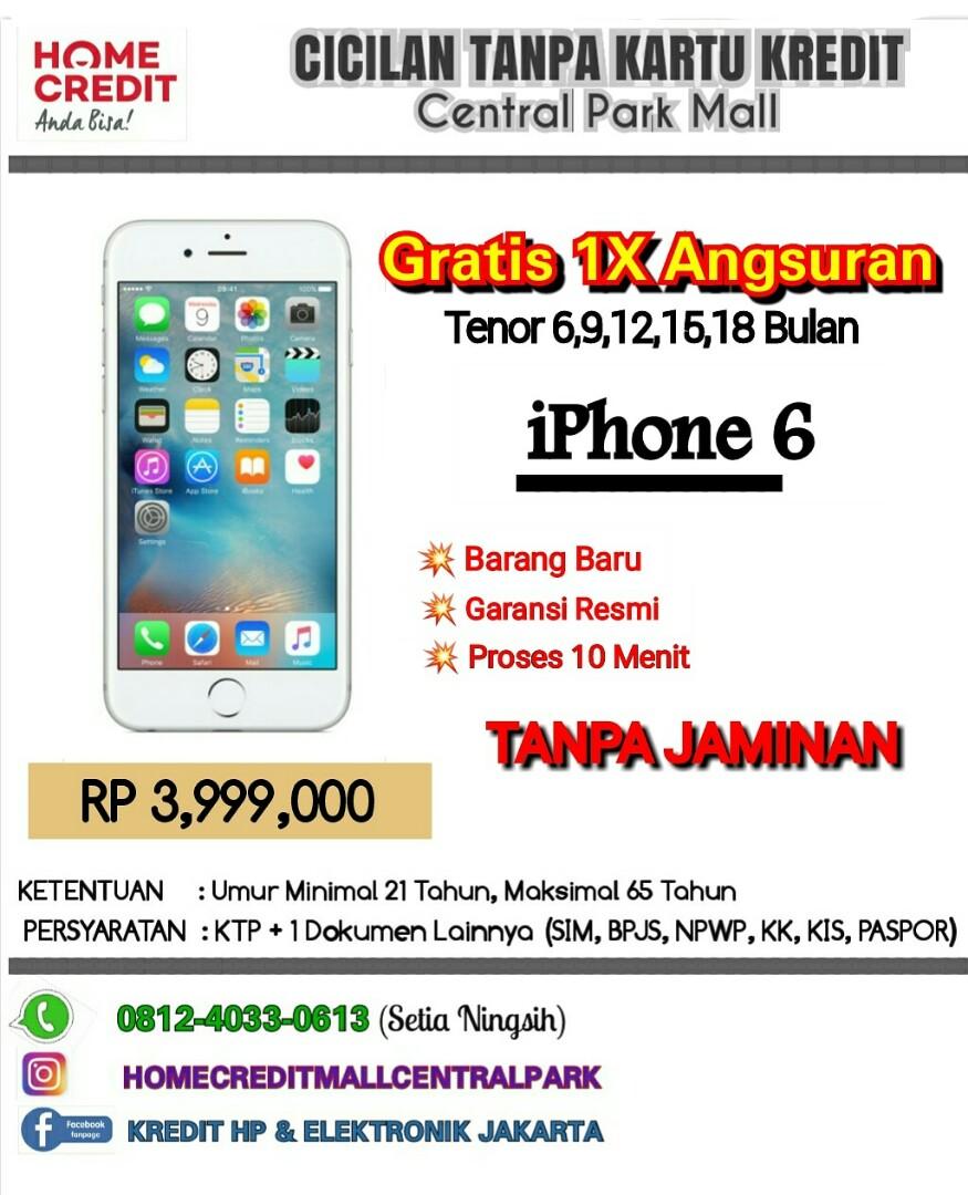 Kredit iPhone 6 Tanpa CC Jakarta Ibox Resmi 0109b850f5