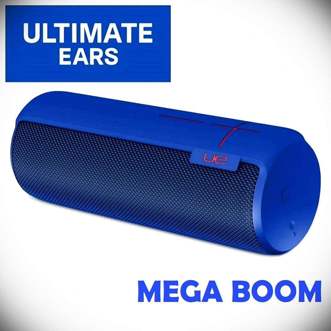 (Local warranty)Ultimate Ears MEGABOOM Electric Blue Wireless Mobile  Bluetooth Speaker Waterproof and Shockproof
