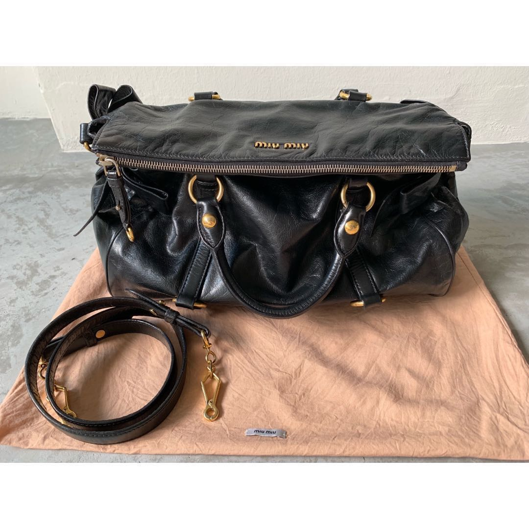 bef16e1d046c Miu Miu Vitello Lux Medium Bow Bag