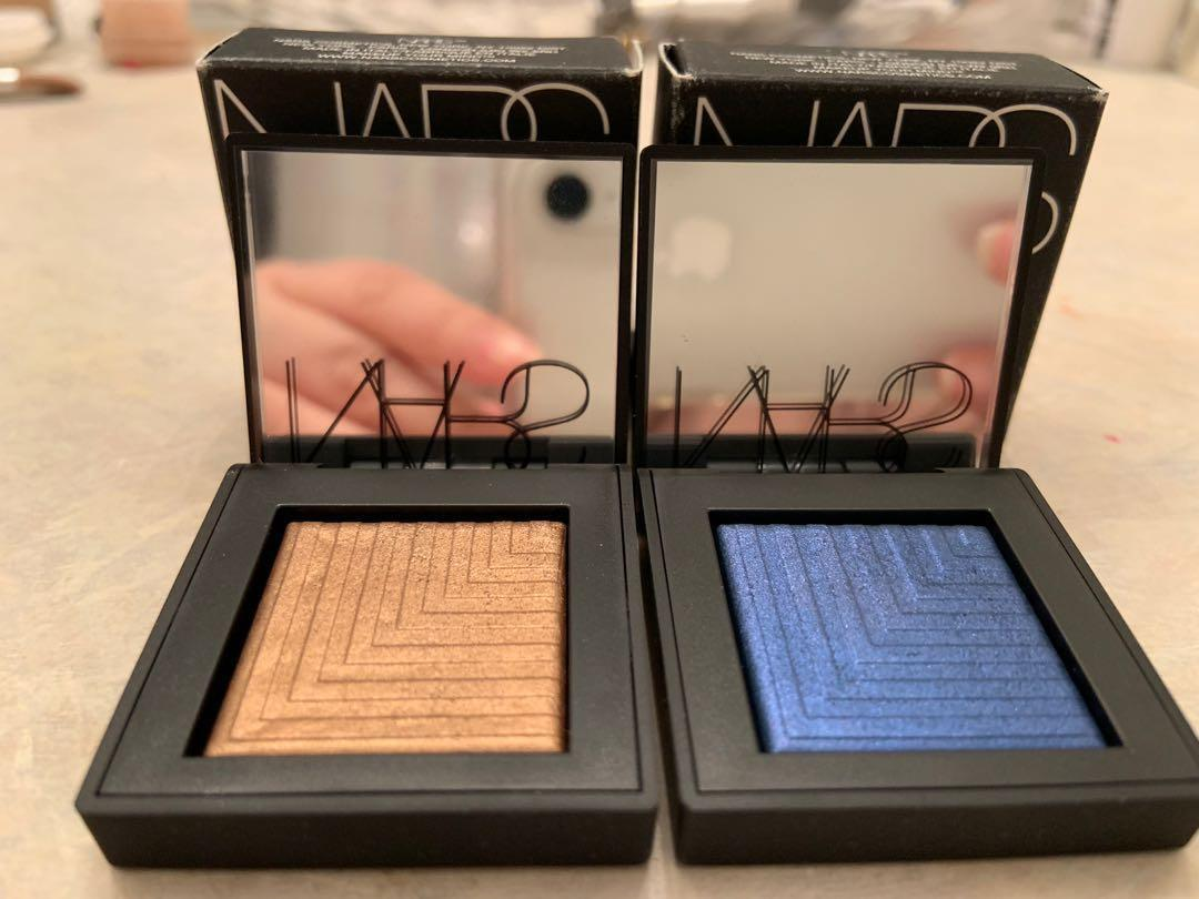 Nars dual intensity eyeshadow in Telesto, Himalia and Cressida.