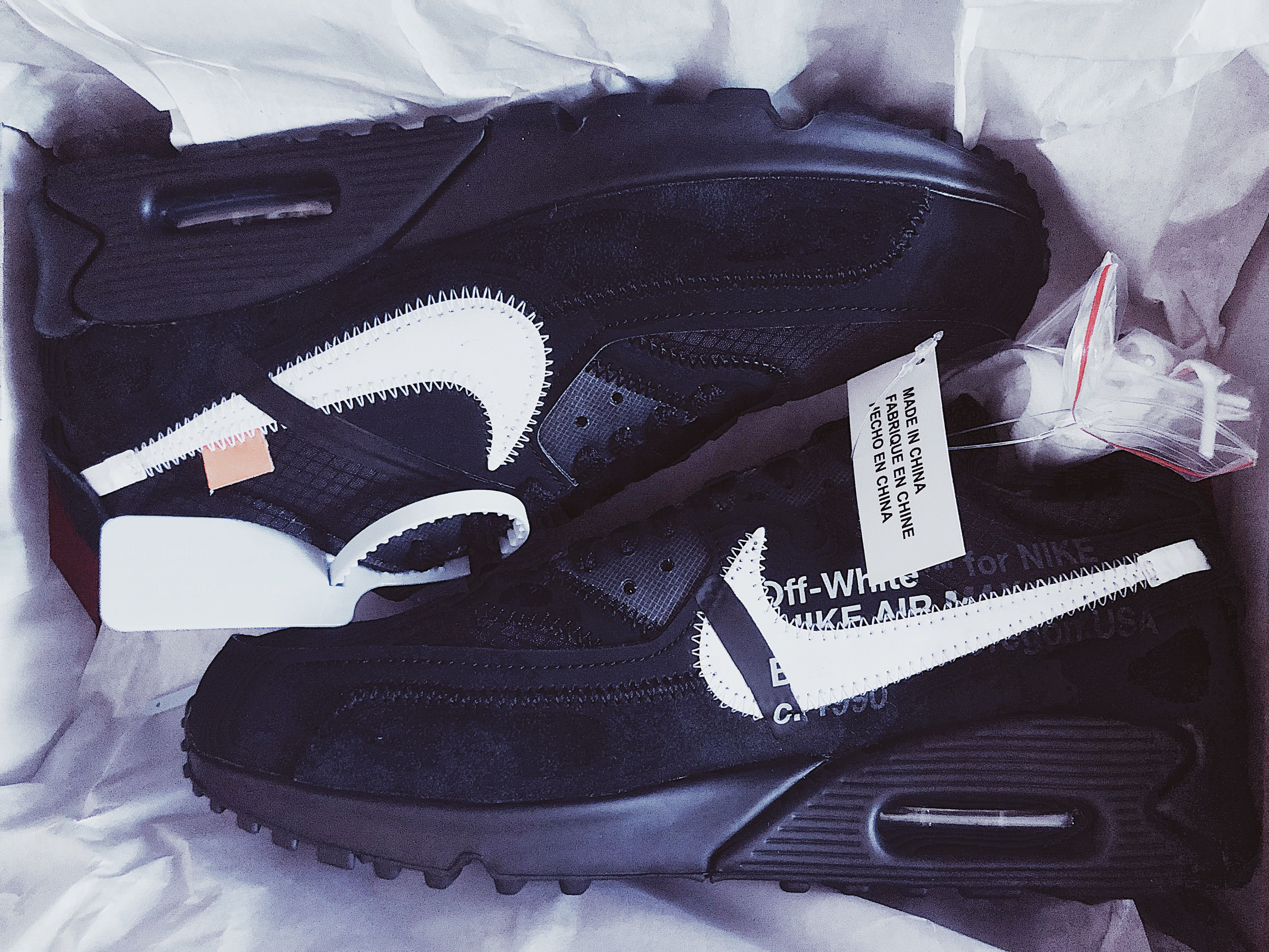 competitive price e6160 5f05f Nike Air Max 90 x Virgil Abloh (Black)
