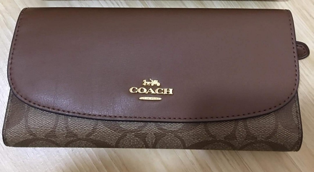 ac679a4172438 ORIGINAL COACH CHECKBOOK WALLET - Brown