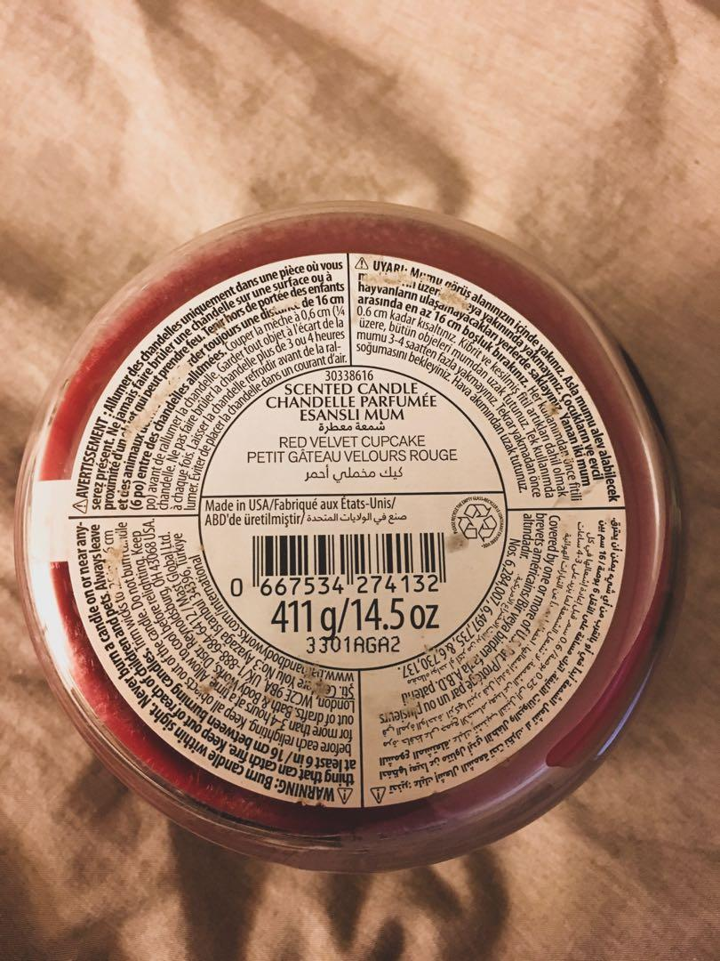 RED VELVET CUPCAKE - BATH AND BODY WORKS 3-WICK CANDLE