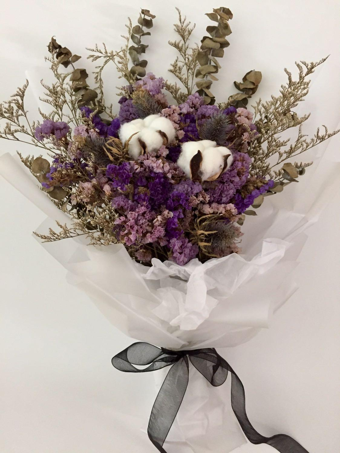 Rustic Dried Flowers Bouquet Valentine S Day Gardening Flowers Bouquets On Carousell