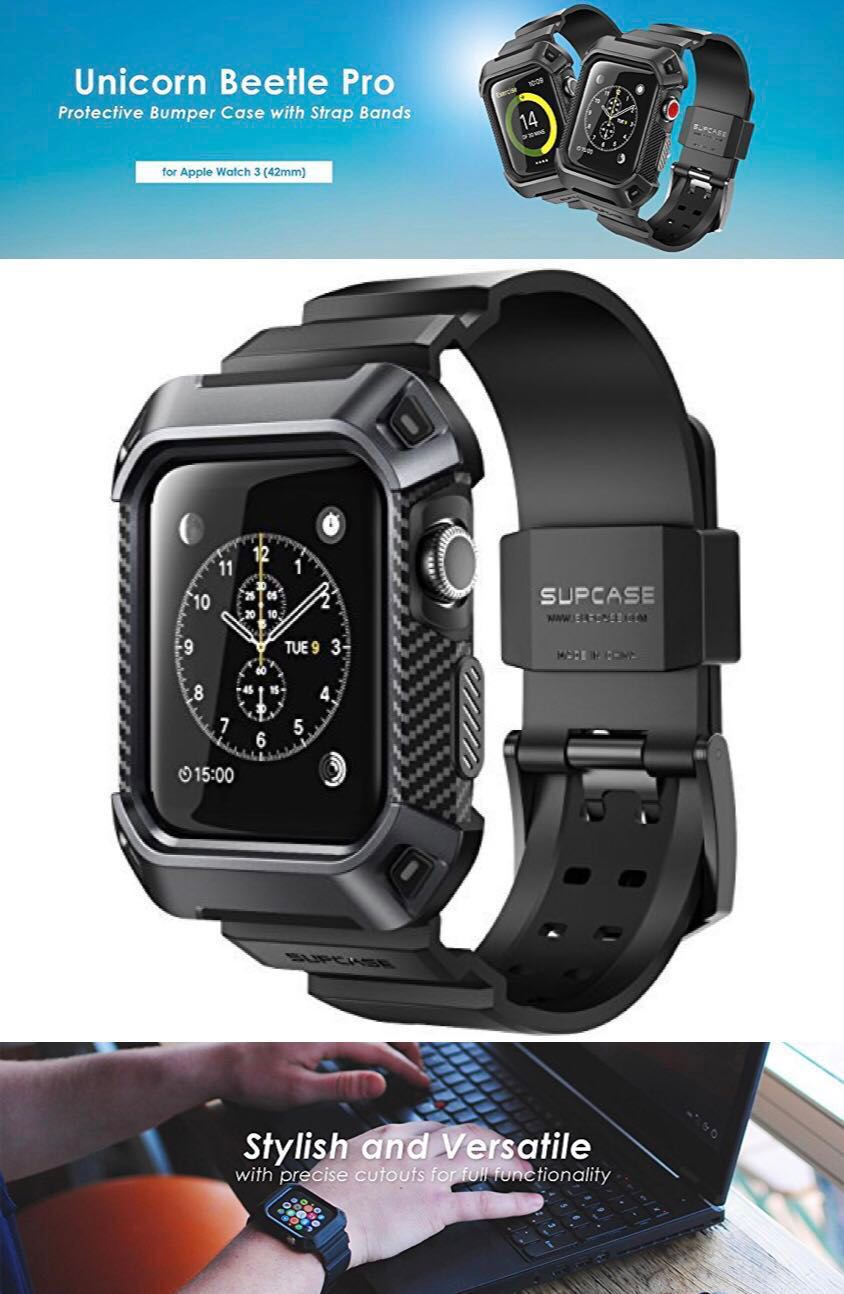 quality design 483ff edd46 Supcase UB Pro Case with Strap for Apple Watch 3 / 2 / 1 (42mm)