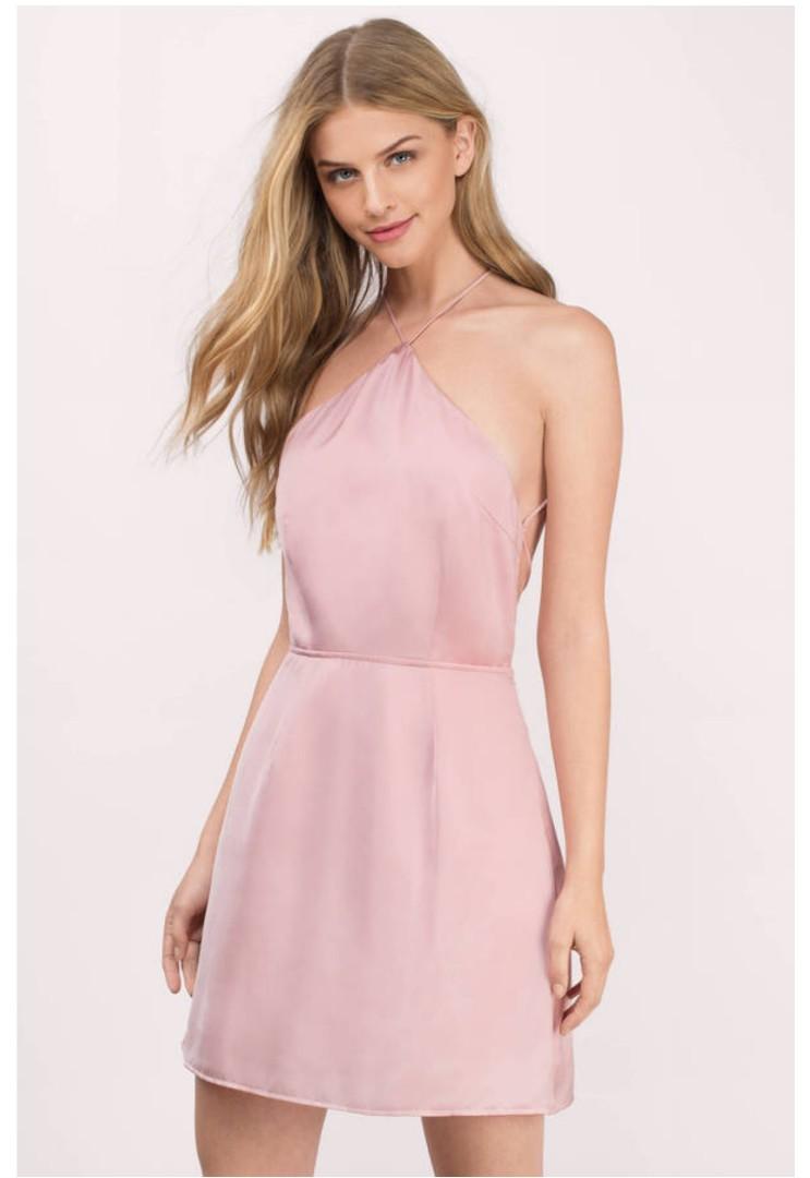 7be59e8ec482 Tobi All Along Blush Skater Dress, Women's Fashion, Clothes, Dresses ...