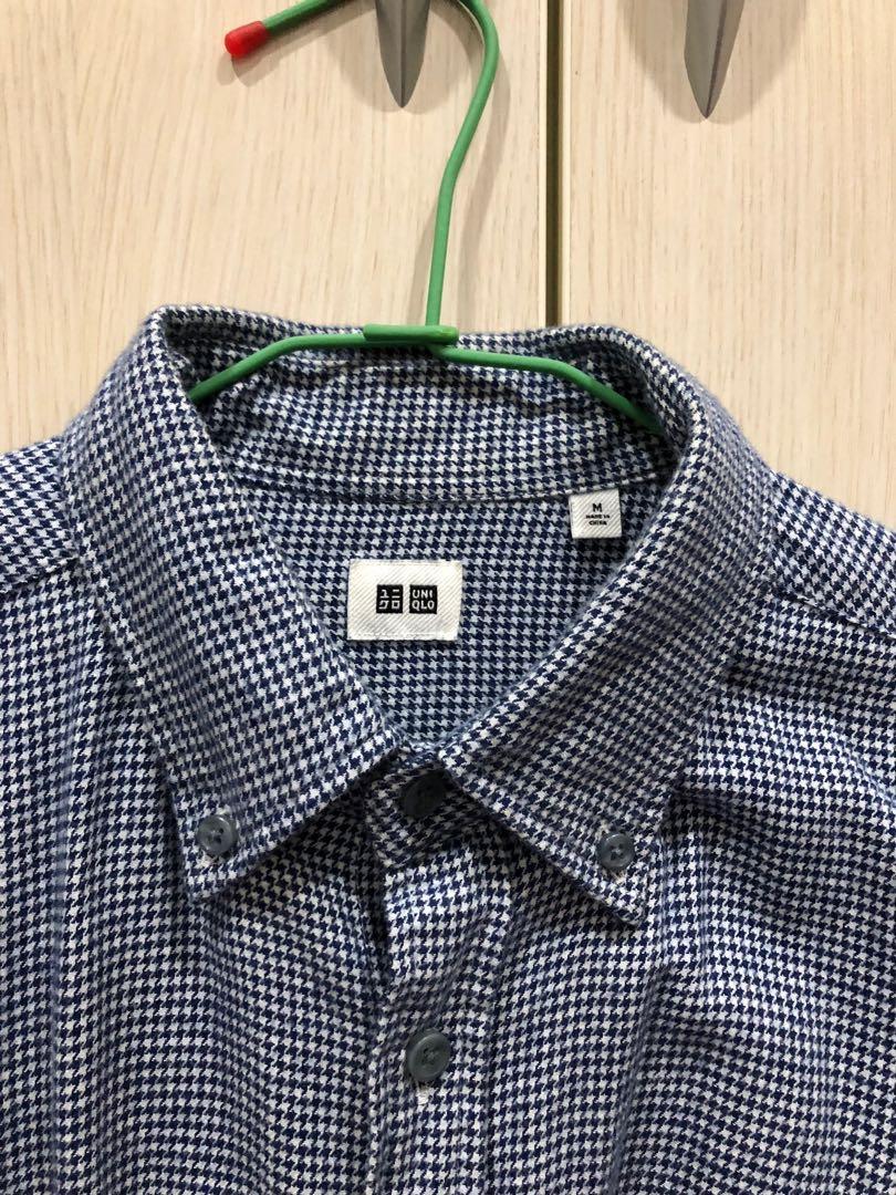 細格紋襯衫Uniqlo