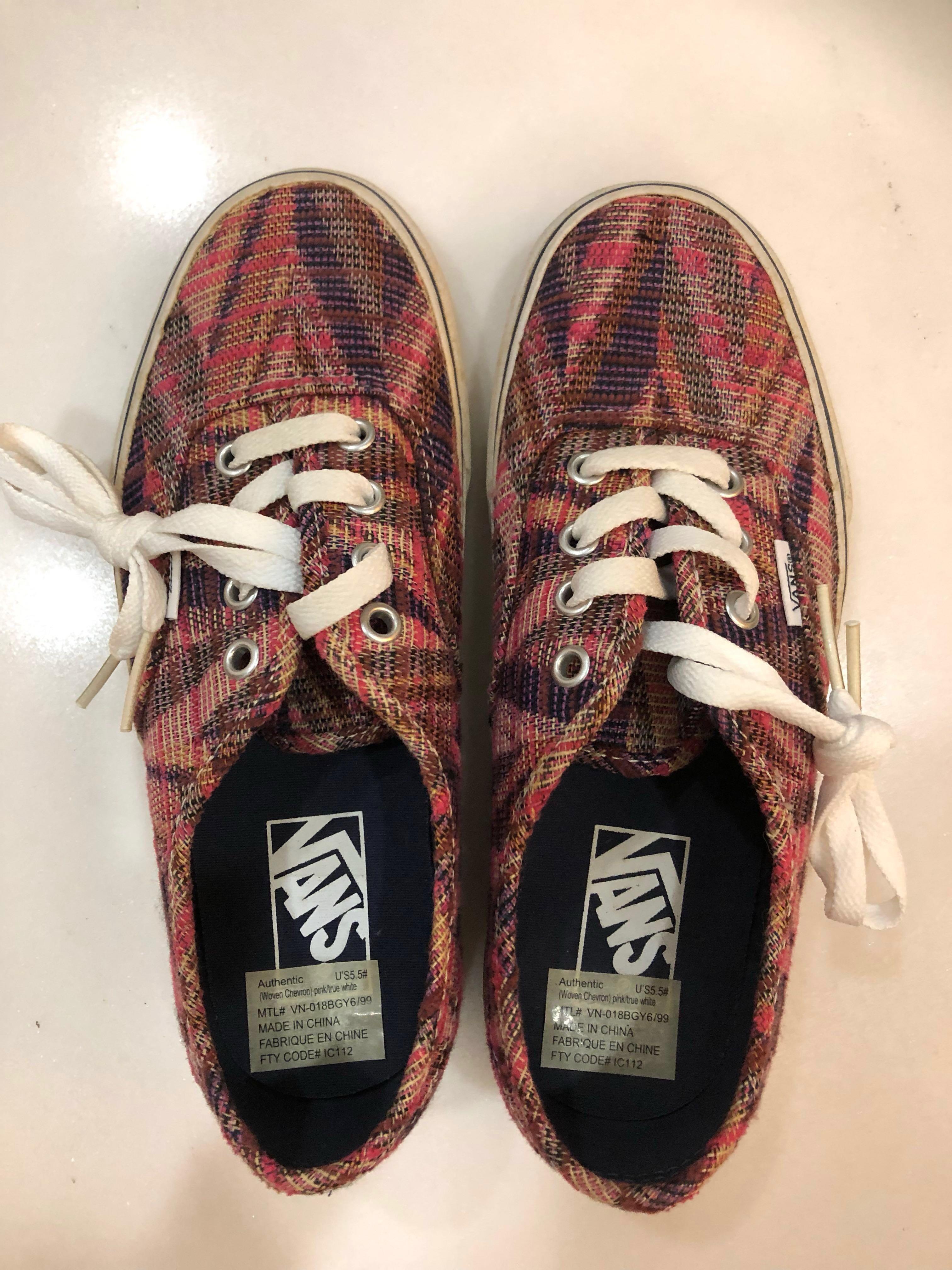 b660795b30 Vans Shoes woven chevron pink true white (size US5.5)