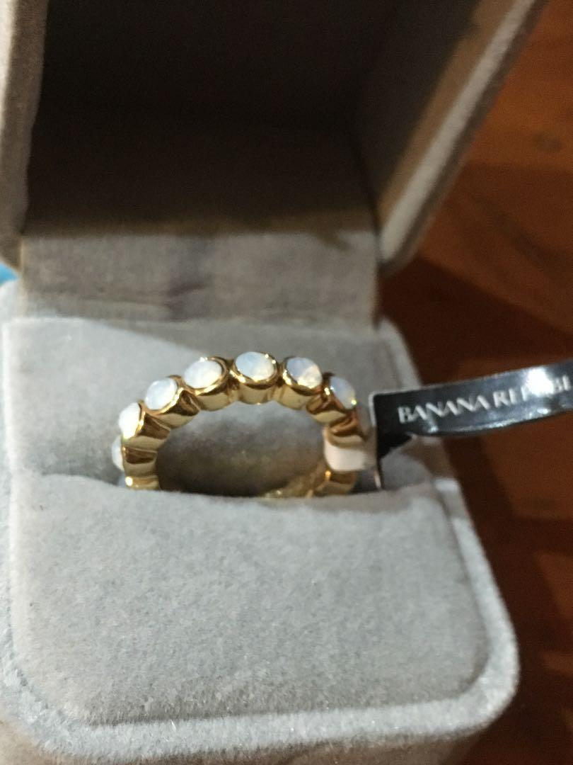 Women's gold plated ring Banana Republic