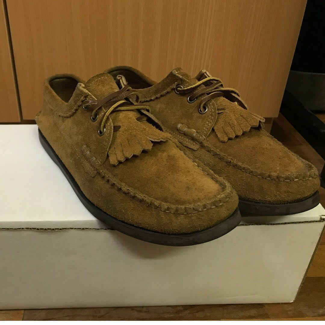e324aee68d0a Yuketen Blucher with Kiltie Brown Size 9D US Boat Shoes