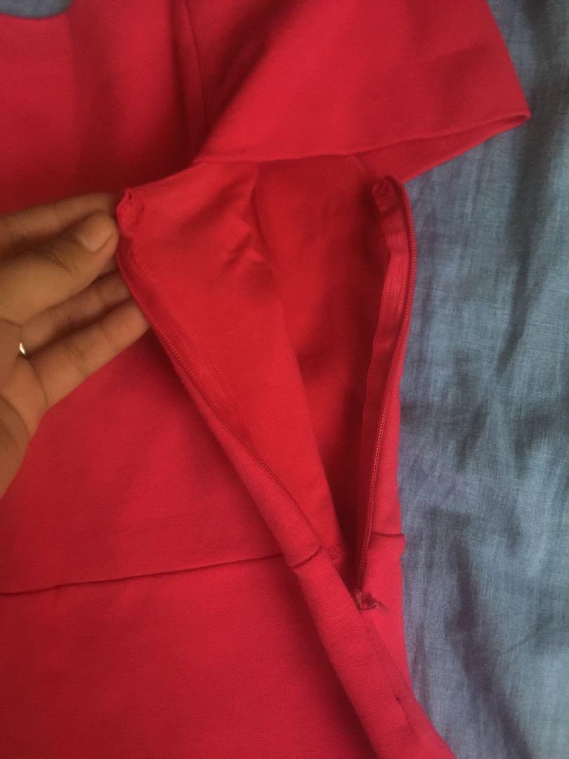 b82e08eb ZARA PINK OFF SHOULDER DRESS, Women's Fashion, Clothes, Dresses & Skirts on  Carousell