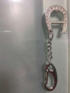 Authentic Aigner Keychain with crystals