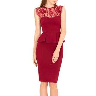 Brand new: Doublewoot Maroon Dress XS