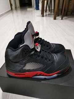 Air Jordan 5 Bred Satin