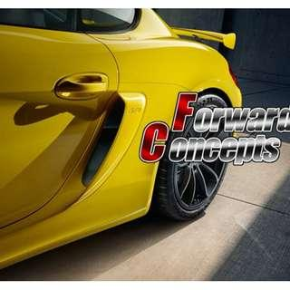 PORSCHE 981 GT4 Style Boxster Cayman GTS SIDE AIR INTAKES VENTS SCOOPS GRILLES