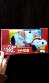 Snoopy the Peanuts Movie Towel Gift Set 史努比毛巾/面巾