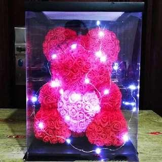 🚚 Valentines day Rose bear with lights