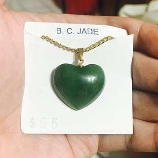 B. C. Jade Heart Necklace BLC13936