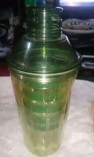 Starbucks shaker with 5 cups and stirrer original