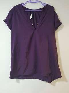Purple Top short sleeve