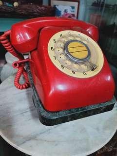 老電話石底座