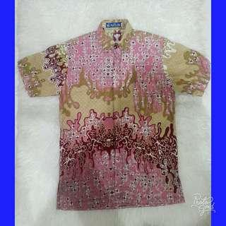 #sharethelove Pink Batik Shirt by Kencana Ungu
