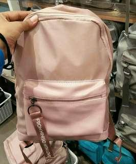 Backpack ransel travel miniso pink nude