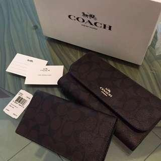 Coach Trifold Wallet & Check Book