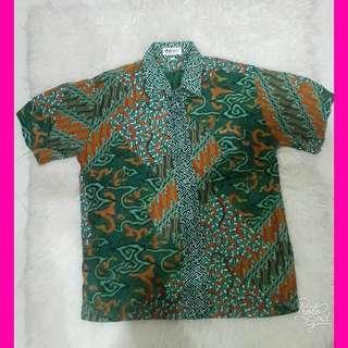 #sharethelove Green Batik Shirt by Batik Keris
