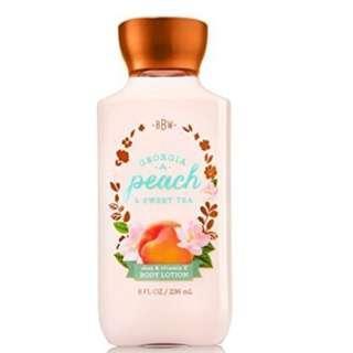 🚚 BN Bath & Body Works GEORGIA PEACH SWEET TEA Body Lotion 236ml