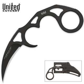 United Cutlery Undercover Sonic Karambit Black Fixed Blade With Sheath