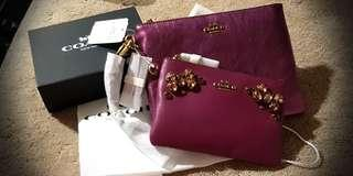 AUTHENTIC Coach clutch and wristlet (Brand New)