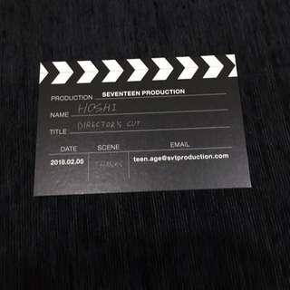 SEVENTEEN DIRECTOR'S CUT HOSHI BUSINESS CARD