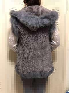 狐毛兔毛皮草外套mink/Fur