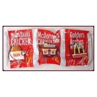日本限定版全新便宜售出}麥當勞McDonald's雞排&房子&標誌吊飾/玩具/模型♡下標可得三款❤