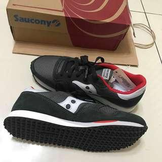 (FREE SHIPPING) Saucony Charcoal/Red Sneakers NOT Adidas/Nike/New Balance