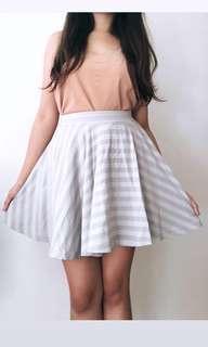 Uniqlo Grey Striped Skirt