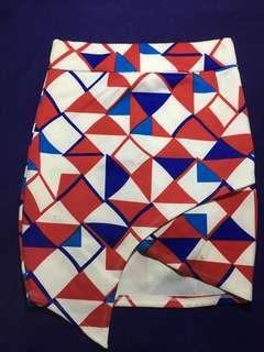(FREE SHIPPING) HW Geometrical Skirt