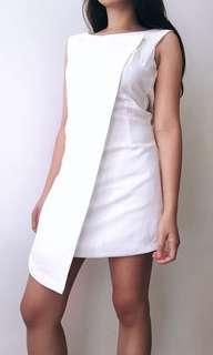 White Overlap Dress