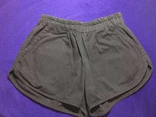(FREE SHIPPING)Black Dolphin Shorts -Maong Type